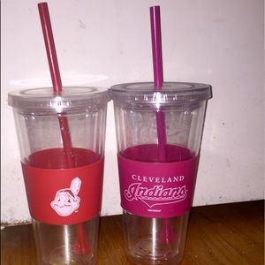 2 Cleveland Indians Cups